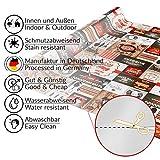 ANRO Wachstuch Tischdecke abwaschbar Wachstuchtischdecke Wachstischdecke BBQ Grill Garten Rot Oval 200x140cm - 2
