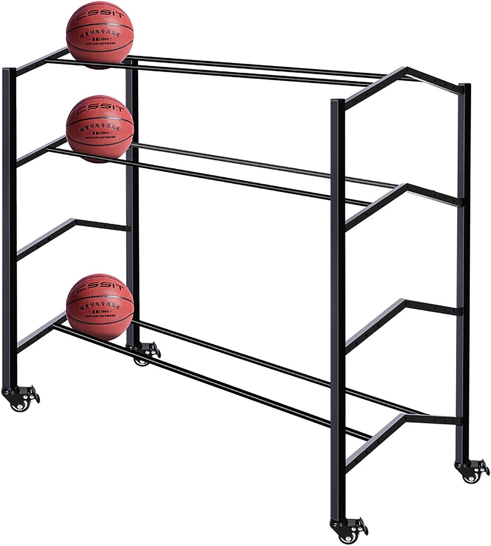 Brand Cheap Sale Venue Elegant 3-Tier Rolling Sports Ball Storage Basketball Football Cart Sto