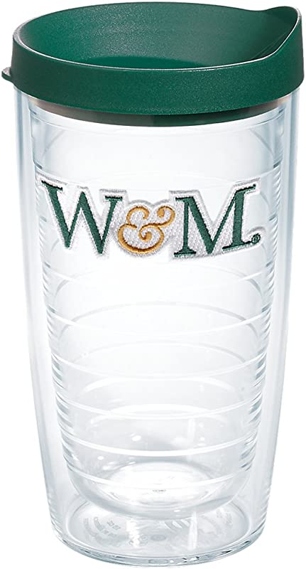 Tervis 1207254 William Mary Tribe Green And Gold Insulated Tumbler With Emblem And Hunter Lid 16oz Clear
