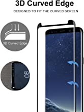 Galaxy S8 Plus Tempered Gorilla Cases Glass FITS with All Cases Compatible Premium Sensitive Flexible 0.26mm Tempered Glass Screen Protector for Samsung Galaxy S8 Plus (Clear) (Black)
