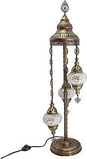 Turkish Marocain Style Tiffany Verre Mosaïque Sol Lampe Veilleuse - W1 X 3 Ampoule Sol Lampe