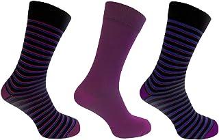 Mens Alexander Green Socks 7-11 Dress Socks Stripe Style