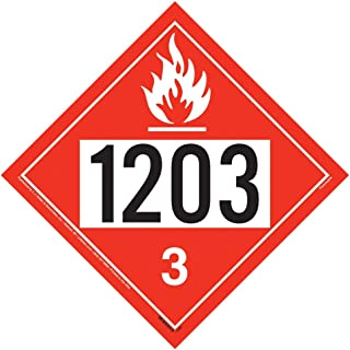 1203 Placard, Class 3 Flammable Liquid 25-pk. - 10.75