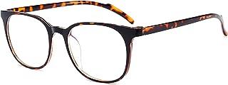 ANRRI Blue Light Blocking Computer Glasses for Anti Eyestrain Anti Glare Lens Lightweight Frame Eyeglasses Leopard Frame, Men/Women