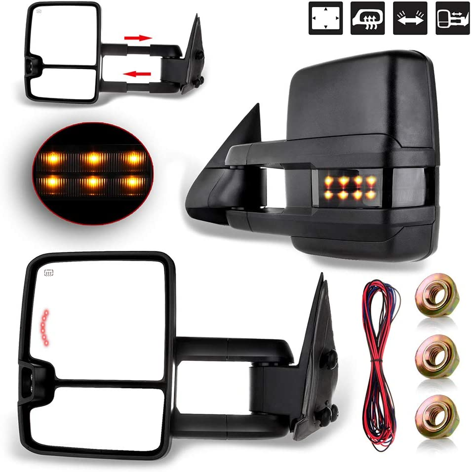 OCPTY Rearview Mirrors Power Heated Towing Mirrors for Chevy 199