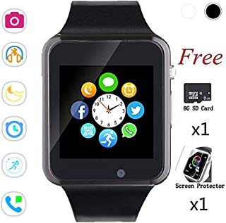 Bluetooth Smart Watch,Touch Screen Sport Wrist Watch Phone for Android Pedometer..