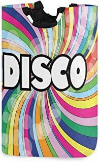 ZOMOY Grand Organiser Paniers pour Vêtements Stockage,Disco de Style des années 80 avec des Rayures colorées en Spirale to...