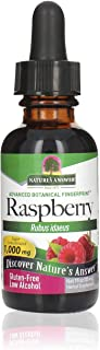 Nature's Answer low Alcohol Raspberry Leaf Extract, 1-Fluid Ounce High Potency nonGMO, Kosher certified, & Gluten Free | N...