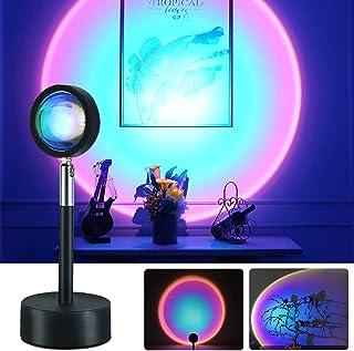 AnNido Lampe de coucher du soleil, Sunset Projector Lampe Coucher de Soleil Rotation 180 °, lampe de sol LED pour Chambre ...