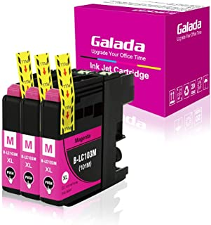 Galada LC103XL Compatible to Brother LC103 Ink Cartridges MFC-J870dw J470DW J475DW lc101 MFC J4310DW J4410DW J4510DW J4610DW J4710DW J285DW J875DW J245 J450DW Printer Ink Cartridges (3M)
