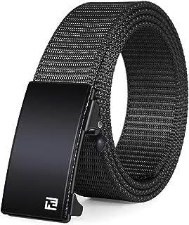 Nylon Web Belts, Ratchet Belt/No Holes Full Adjustable Web Belt for Men, Women and Boys