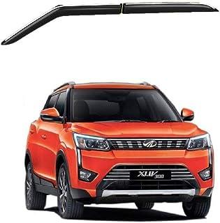 Caro Manic Car Chrome Line Door Visor Wind Deflector Compatible with XUV 300 -Set of 4 Pcs