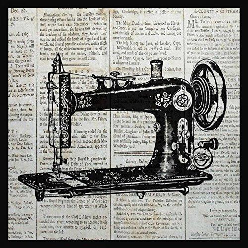 AFDRUKKEN-op-GEROLDE-CANVAS-UITSTEKENDE-NAAIMACHINE-Ballantyne-Piper-Wijnoogst-Afbeelding-gedruckt-op-canvas-100%-katoen-Opgerolde-canvas-print-Kunstdruk-o-Afmeting-81_X_81_cm