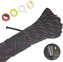 4-in-1 100ft 550 Paracord 550 Fire Cord Paracord 10 Strand, 5/32