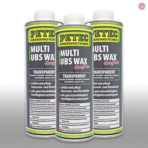 Petec_bundle 3X PETEC Multi UBS Wax Kautschukbasis Spray Dose TRANSPARENT 1.000 ML 73410