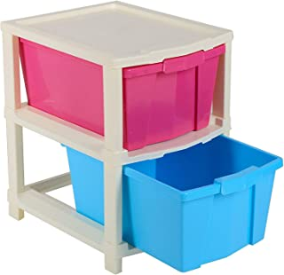 Maruti 2 XL Plastic Modular Drawer System for Home, Office, Hospital, Parlor, School, Doctors, Home and Kids (Multicolor)