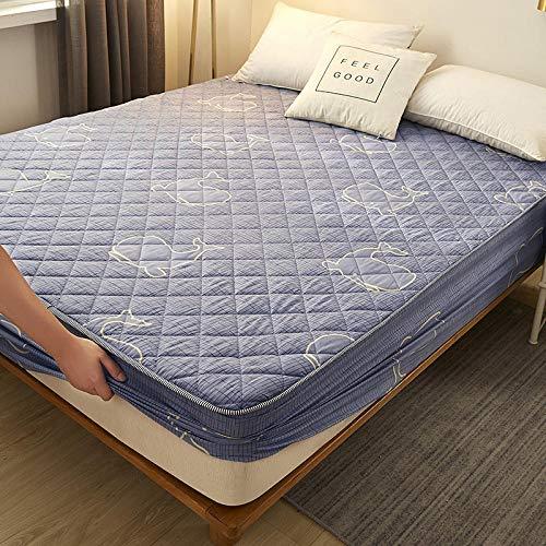 HPPSLT Unterbett Soft-Matratzen-Topper, Matratzenschutz Boxspring-Betten geeignet Wasserdichtes, verdicktes Bettlaken, einteilig - 5_180 cm x 200 cm