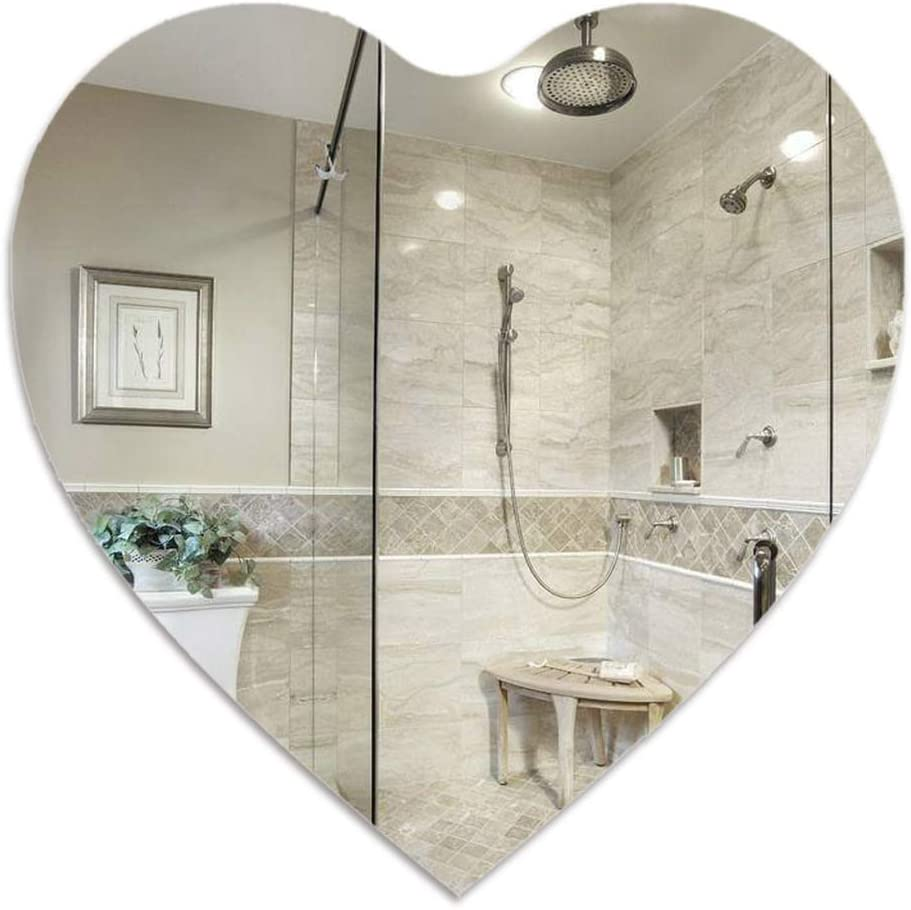 GYF Makeup Mirror Heart-Shaped Bathroom Stickers Mail order cheap Wall Direct store for