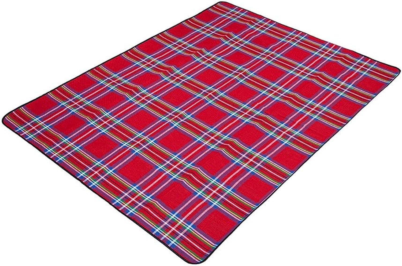 Bequeme Strandmatte Im Freien wasserdicht und feuchtigkeitsfest dick und langlebig Oxford-Tuch groer Teppich weich und bequem faltende Picknick-Matte Faltbar und tragbar (Pattern   K)