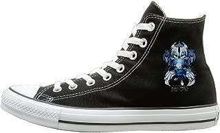 Laotan Unisex Undertale Sans High Top Sneakers Canvas Shoes Design Sport Shoes Travel Black