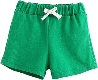 Rakkiss Kids Pants Solid Boy Girl Cotton Shorts Pants Comfortable Breathable Pants