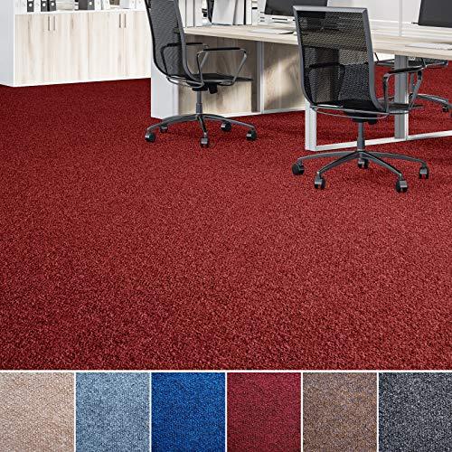 Floori® Nadelfilz Teppich, GUT-Siegel, Emissions- & geruchsfrei, wasserabweisend | Viele Farben & Größen (600x200 cm, rot)