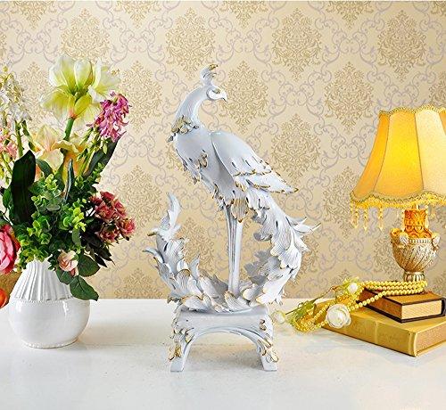 Ornements de Phoenix pour promouvoir la Richesse Cadeaux de Mariage Décorations pour la Maison (Couleur : Blanc)