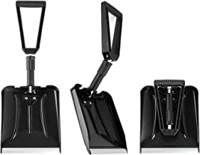 ELIVERN Folding Snow Shovel, Compact Snow Shovel with Comfortable D-Grip Handle and Durable Aluminum Edge Blade, 13