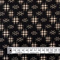 50cm(数量:5)から、10cm単位でカットいたします。商用利用OK 井絣・黒 シーチング生地 浴衣 甚平 ハンドメイド 手作り用生地 商用利用可能 表示価格は10cmあたりの価格です。 T0042800