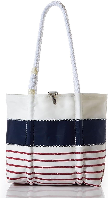 Sea Bags Recycled Sail Cloth Red Mariner Stripe Handbag