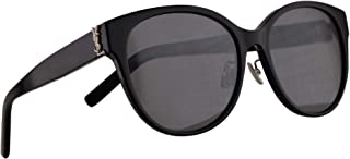 SL M39/K Sunglasses Black w/Silver Flash Lens 57mm 002 M39K SLM39/K