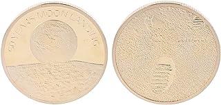 minansostey Moon Commemorative Coin Travel Gift Souvenir Desktop Display Decoration Crafts Car Interior