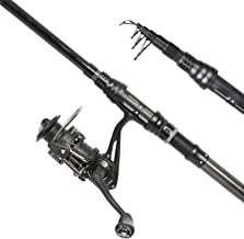 Entsport N Seires - Professional Spinning Rod and Reel Combo with Various Lures and Tools Portable Telescopic Graphite Fishing Rod and 3000 Metal Spinning Reel Fishing Tackle Box
