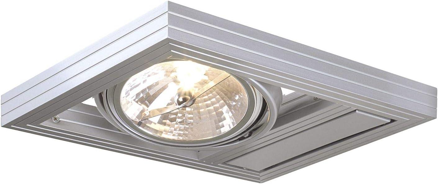 SLV Wandaufbauleuchte AIXLIGHT KARDAFRAME / Wand Beleuchtung innen,  Aufbau Leuchte, Wandaufbauleuchte, Decken Strahler / G9 9.9W grau
