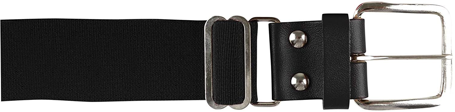 CHAMPRO Men's Brute Baseball Belt with Leather Tab