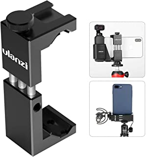 Ulanzi Cell Phone Tripod Mount Adapter w Cold Shoe, Metal Phone Tripod Adapter Aluminum Alloy Vertical w 1/4'' Screw Compatible w OSMO Pocket iPhone 11 Pro MaxXS Max XR 8 7 6 plus Google OnePlus 7 Pro