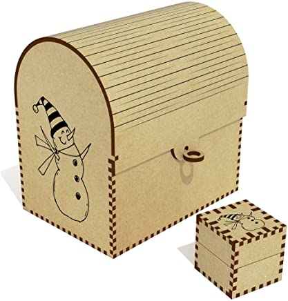 Azeeda  Happy Snowman  Treasure Chest Jewellery Box  TC00041136