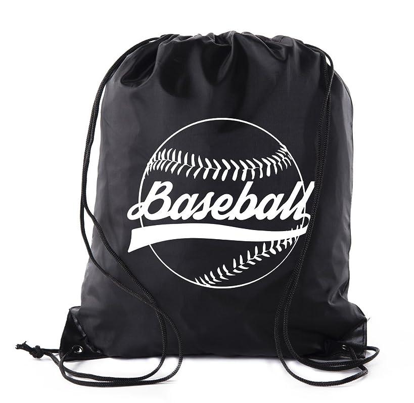 Mato & Hash Boys Drawstring Backpack Baseball Bags 1-10 Pack Bulk Options