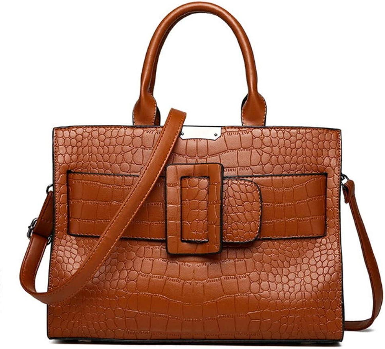 5e9393d5fe214 Mzdpp Luxuxkrokodilmuster Handtaschen-Weiblicher Pu Leatherbag F uuml r  Frauen-Kurier Bauscht Einfache Gro szlig e Gro szlig e Gro szlig e Taschen- Schulter ...
