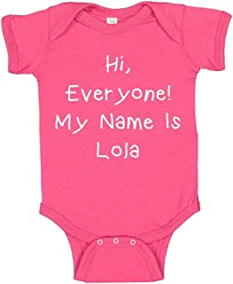 Hi, Everyone! My Name is Lola - Personalized Name Baby Bodysuit