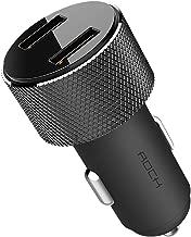 Cetoom Dual USB Car Charger, 24W 3.4A Car USB Fast Charging Port LCD Digital Screen Display, Compatible with iPhone Xs/XS Max/XR/X/8/7/6, Galaxy S9/S8/S7/S6, Edge Note, Nexus, LG, HTC, etc (Black)