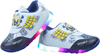 LNG Lifestyle Unisex Multi Color Casual LED Light Sporty Shoes (Spider)