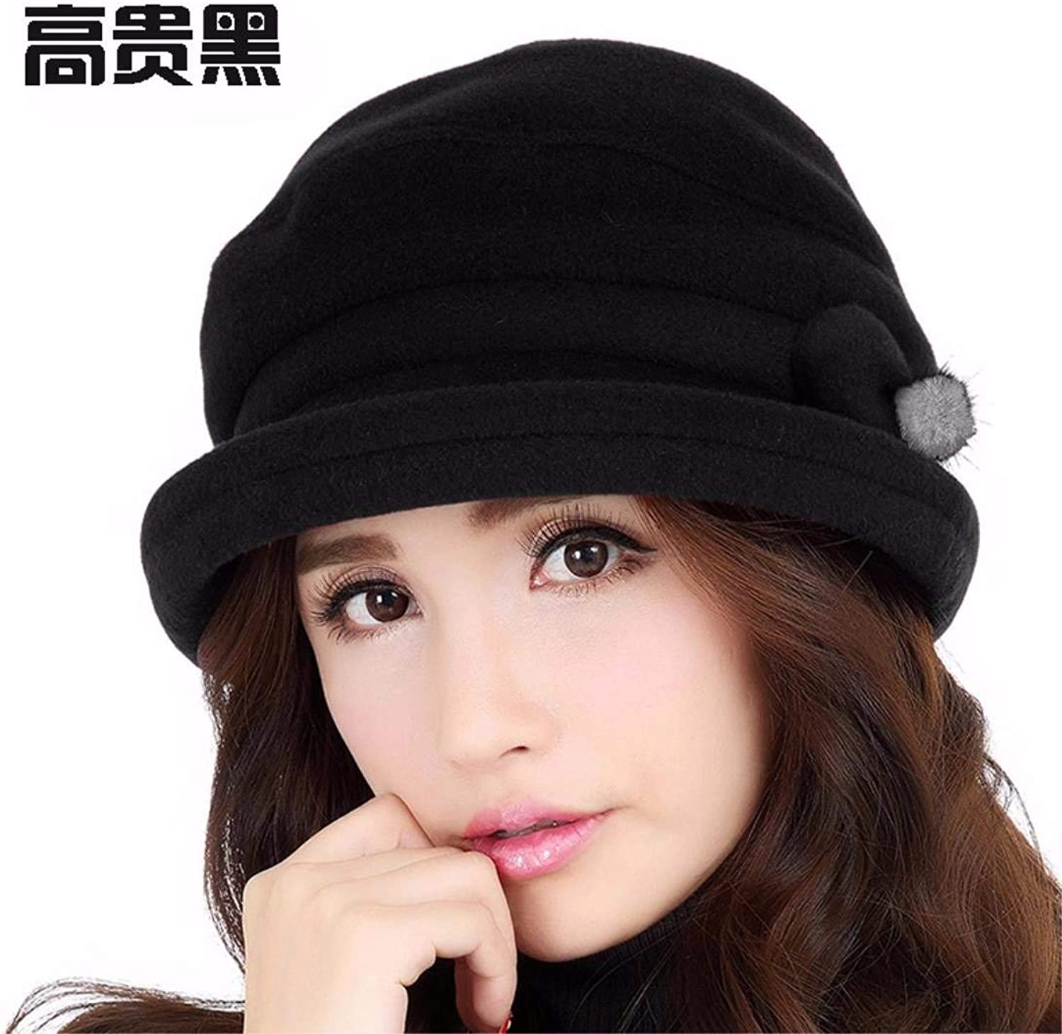 Chuiqingnet The volume of the small gift hats, warm winter and autumn Bailey English style WINTER HAT