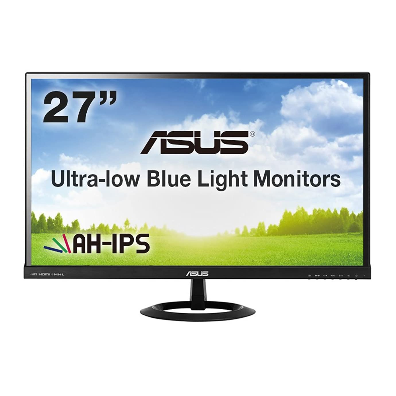 洞察力未来性格ASUS 27型フルHDディスプレイ ( AH-IPS / 広視野角178° / ブルーライト低減 / HDMI×2,D-sub×1 / スピーカー内蔵 / ブラック / 3年保証 ) VX279H-J