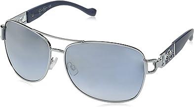 Jessica Simpson Women's J5713 Metal Aviator Sunglasses with 100% UV Protection, 67 mm
