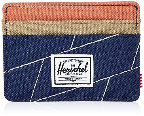 Herschel Unisex - Adulto Charlie Rfid Block Wallet Portafoglio Charlie Rfid portadocumenti per carte di credito, Blu (Blu/Kelp/Albicocca Brandy), Taglia unica