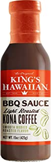 King's Hawaiian Light Roasted Kona Coffee Barbecue Sauce 6-15 OUNCE