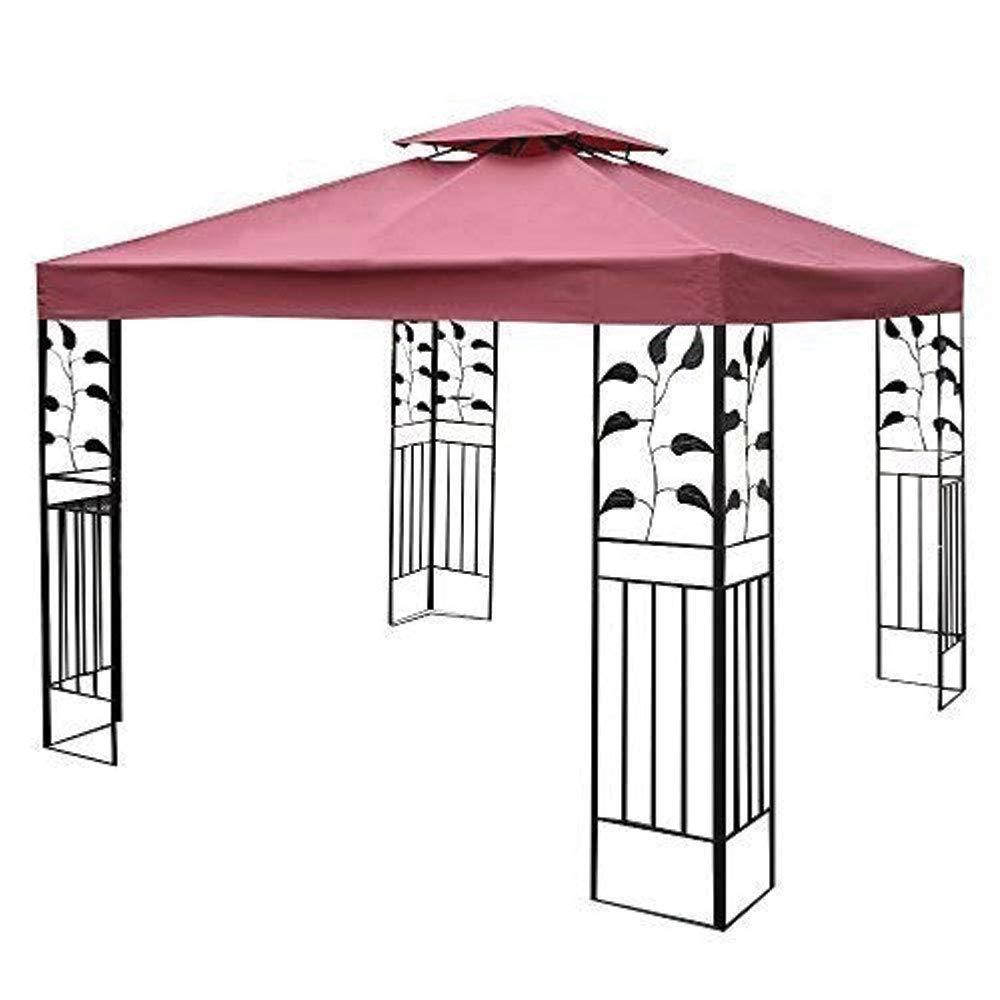 KIFOGAR Techo de Reemplazo para Carpa - Toldo Solar de Terraza, Cubierta de Gazebo Cenador, Recambio para Techo de Dosel y Pabellón de Jardín, Toldo de Sol - 3 x 3m: Amazon.es: Jardín