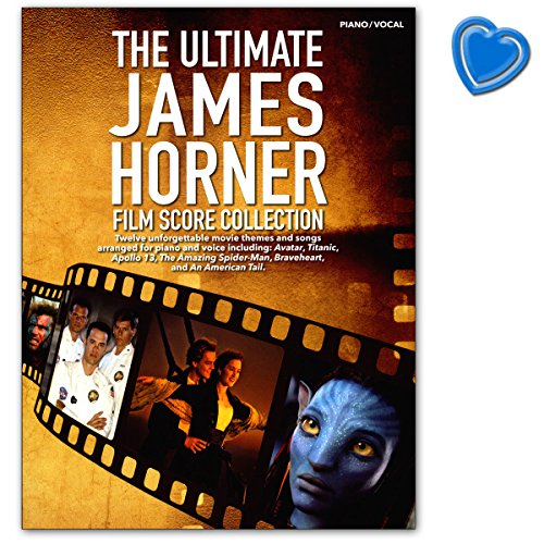 The Ultimate James Horner Film Score Collection – am1011109 – 9781785580826 con Bunter herzförmiger – Partituras am1011109 – 9781785580826