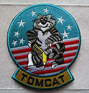 VF-1 TOP Gun F-14 Tomcat FIGHTERJET Aircraft Pilot 3D Tactical Military Badges Embroidered Patch Back with Loops and Hook